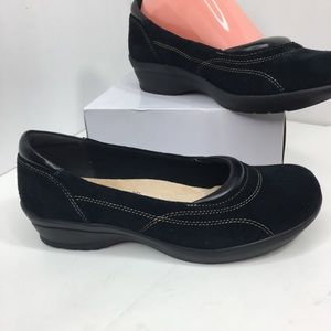 Softspots Black Suede Comfort Shoe with We…